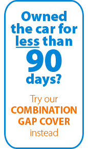 If you've owned your car for 90 days or less, our Combination GAP would be your best option