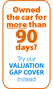 If you've owned your car longer than 90 days, our Valuation GAP would be better for you.